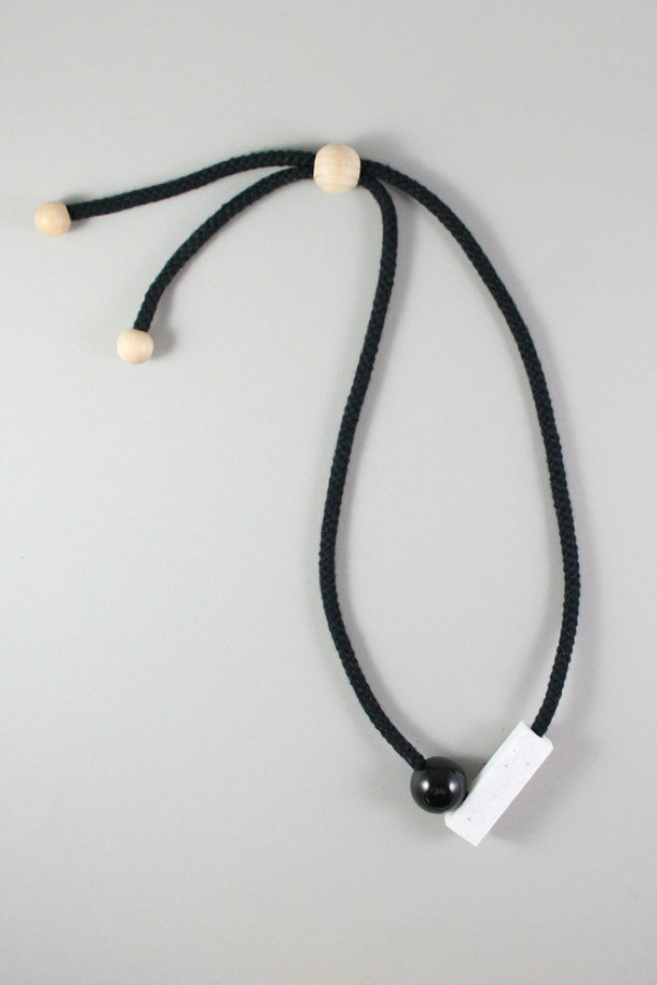 One We Made Earlier Josef Necklace Black