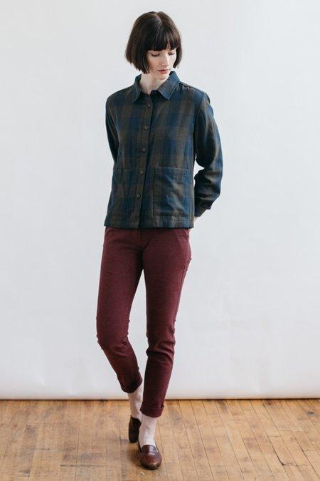 Bridge & Burn Kettering Double Cloth shirt - Olive