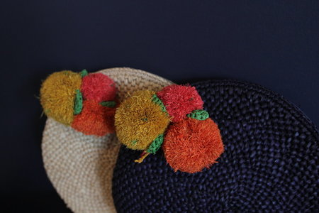 Mar Y Sol Louisa Crocheted Fruit Clutch