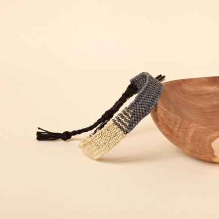 Myriam Balaÿ Devidal Loom Bracelet - grey/gold