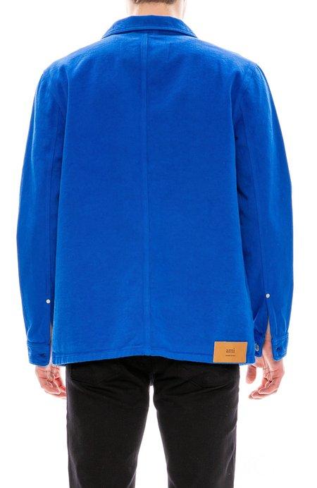 AMI Denim Worker Field Jacket - Blue