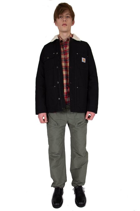 CARHARTT WIP Fairmount Coat - Black Sherpa