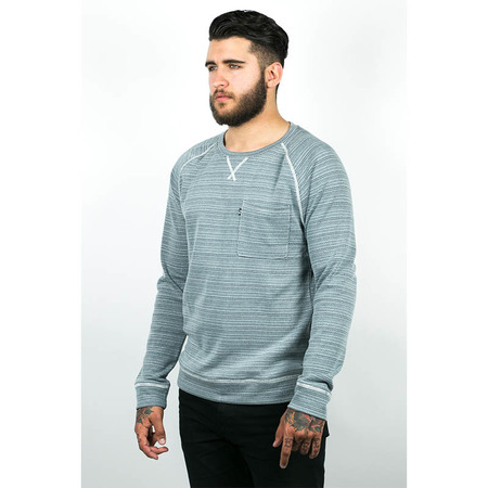 Men's Wolf & Man Mundo - Seagreen Raglan pull over