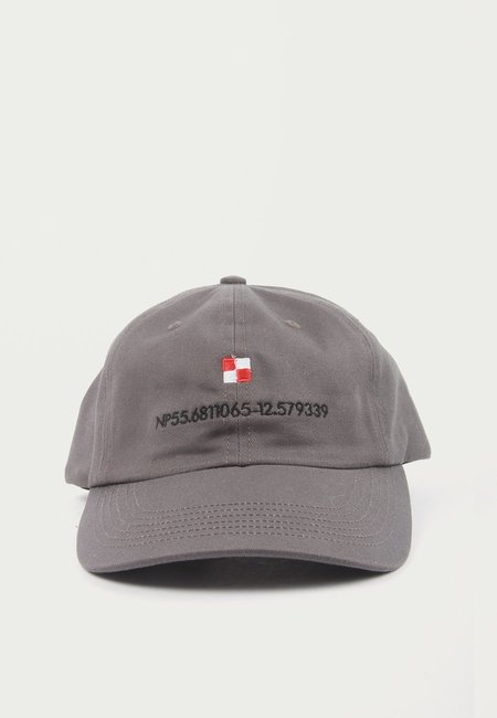 Norse Projects Coordinates Sports Cap - Magnet Grey