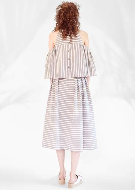 Christine Alcalay Off the Shoulder Cape Top