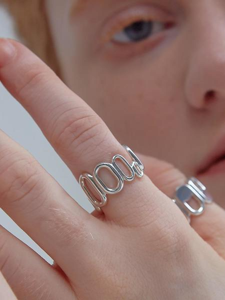 090FACTORY Repeated Oval Ring - Silver
