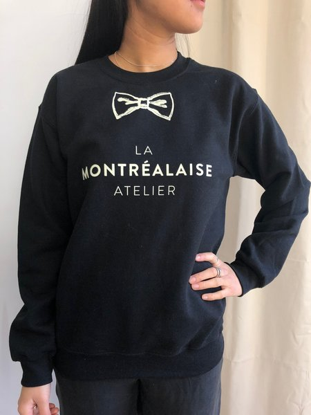 LA MONTREALAISE BOW CREWNECK - BLACK