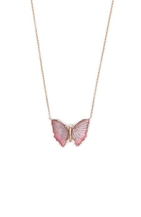 SHAIN LEYTON One of A Kind Petite Butterfly Necklace - 14K gold