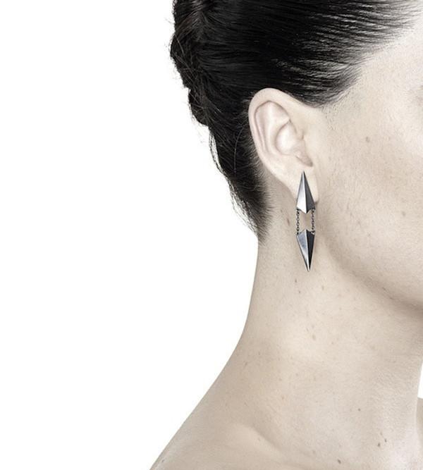 Maria Black Black d'Ante Earring