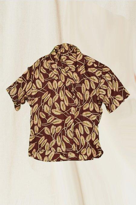 Vintage Silk Palm Top