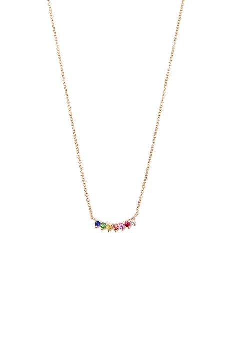 SHAIN LEYTON 7 Stone Rainbow Necklace