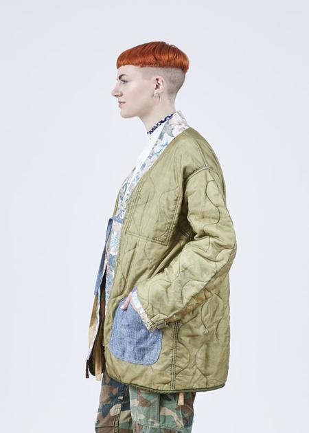 Atelier & Repairs Residency Quilted Liner Utility Jacket - Olive