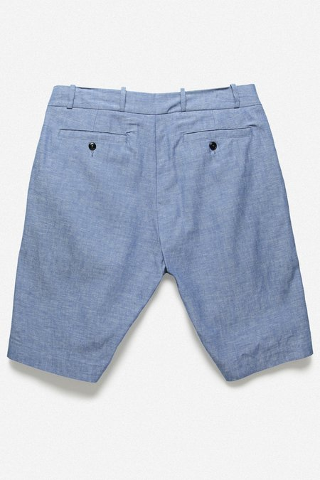 House of St. Clair Pleated Short - Blue Chambray