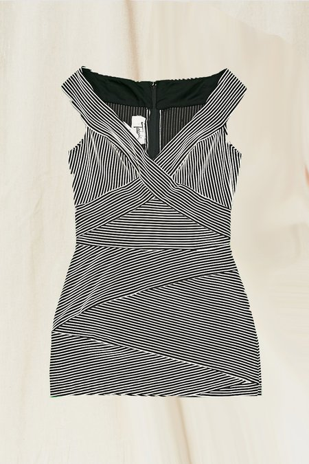 Vintage Tadashi Dress - Black/White