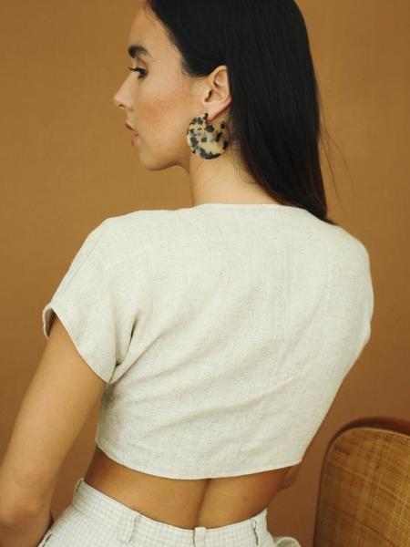 Machete Clare Earrings - Blonde Tortoise
