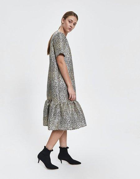 JUST FEMALE Tulla Dress - Black Jacquard