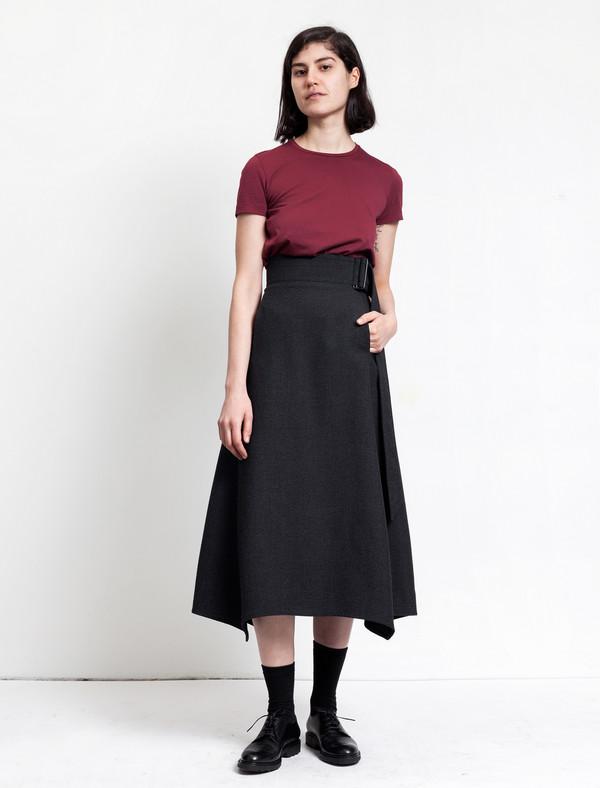 Butter Long High Waisted Skirt Slate