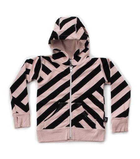 KIDS Nununu Striped Zip Hoodie - PINK