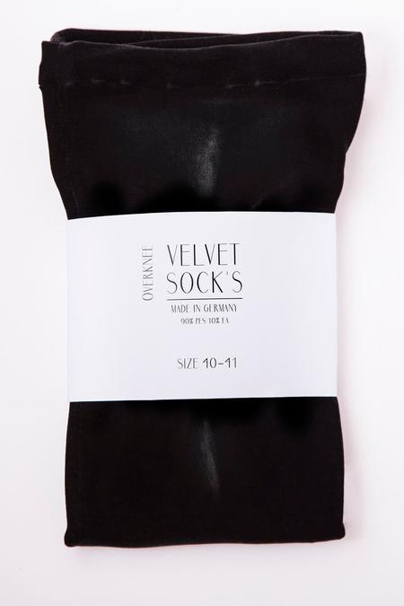 Velvet Socks by Simone Wild Velvet Overknee Socks - Black