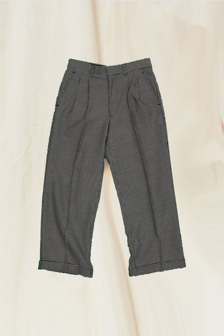 Vintage Cropped Pant - Black/White