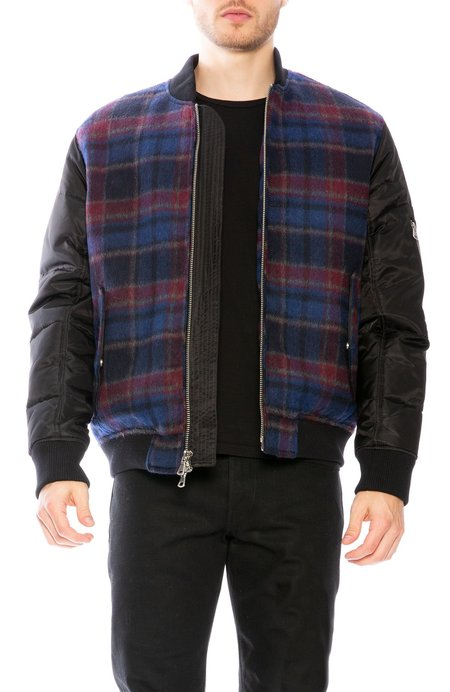 THE VERY WARM Hyde Plaid Jacket with Lining Art by Gil Goren - Black Multi