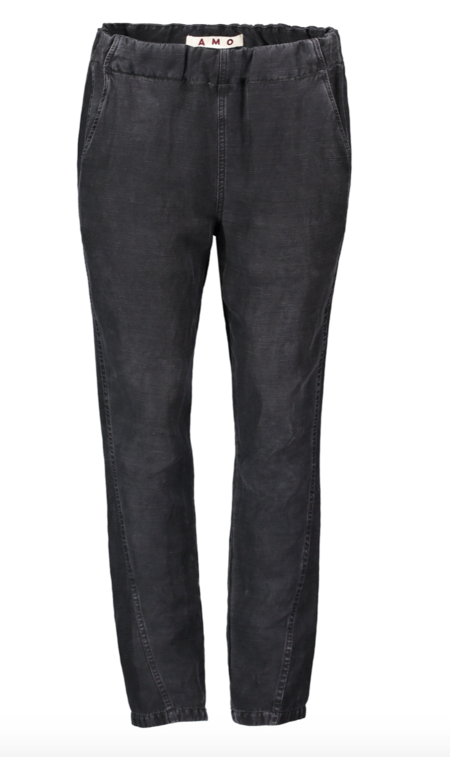 amo denim Pull-on Slouch Trouser - Washed Black