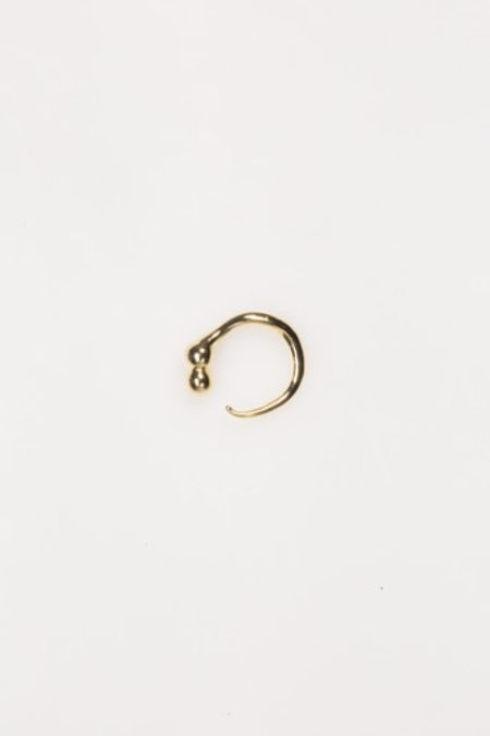 Keane Two Sphere With Tail Ring - Sterling Silver