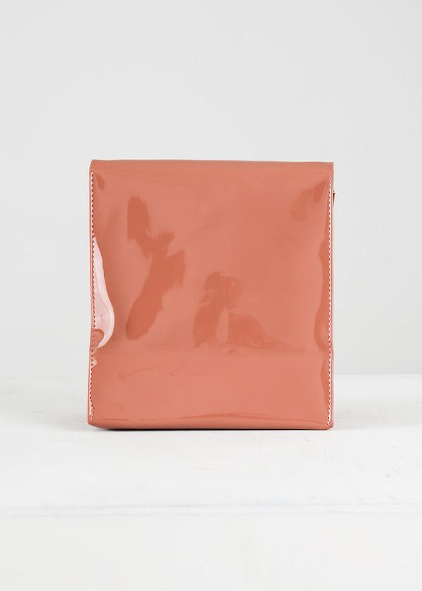 S M K Dark Camel Foldover Bag