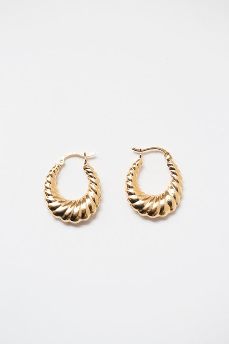 ARO Puffy Hoop Earrings - GOLD