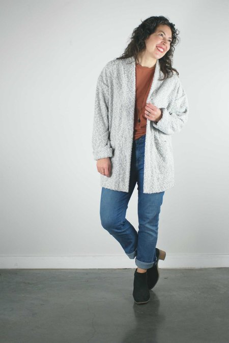 North Of West Pebble Knit Cardigan - Silver