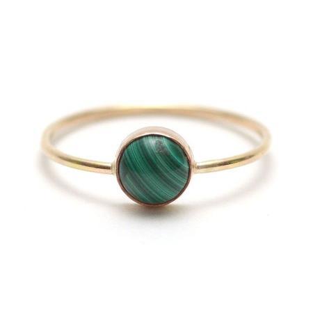 Favor Gumdrop Ring - Malachite