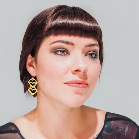Nikki Jacoby Hatsya Earrings - Brass