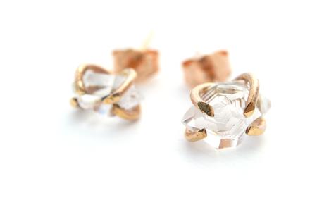 Silversheep Jewelry Herkimer Diamond Stud Earrings
