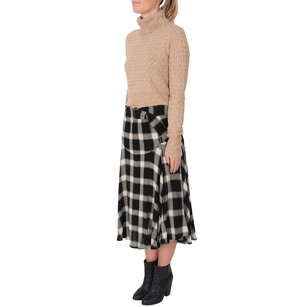 A.L.C. GABRIELLE PLAID MIDI SKIRT