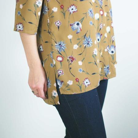 Dagg & Stacey Sinclaire Button Up Blouse - Toffee