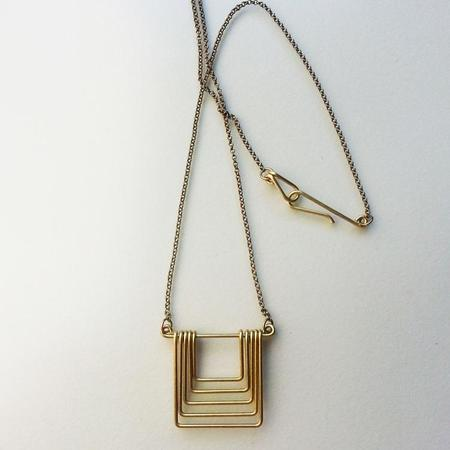Hellbent Small Square Fade Necklace - Brass