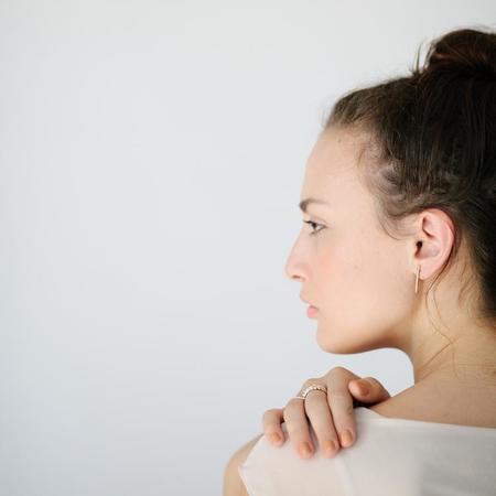 Favor Stitch Post Earrings