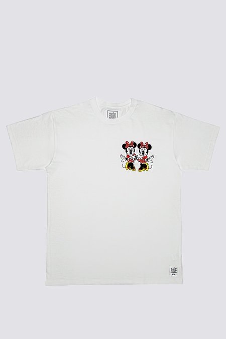 Good Good Good Minnie Twins T-Shirt - white