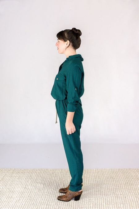 Tysa Yes We Can Jumpsuit - Dark Emerald
