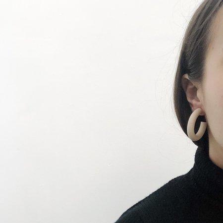 Sea + Pattern Bone Circlet Earrings