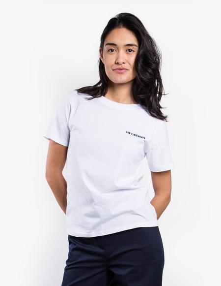 Han Kjøbenhavn Casual Logo Tee - White