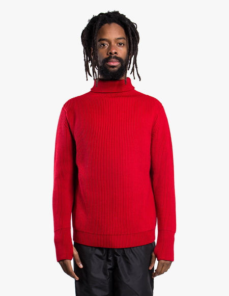 Andersen-Andersen Navy Turtleneck Symmetrical - Red
