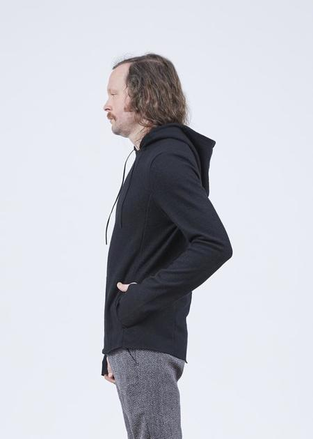 Hannes Roether Residency Wool Hoody Sweater - Black