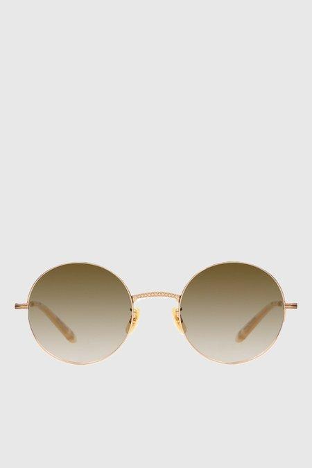 Unisex Garrett Leight Seville 48 - Gold-Blonde/Semi-Flat Green
