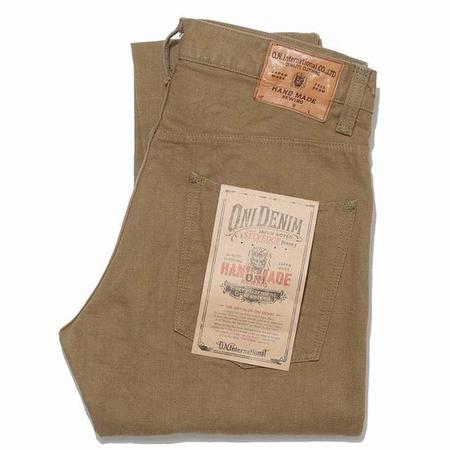 Oni Denim Hand Made Relaxed Tapered - Brown Khaki