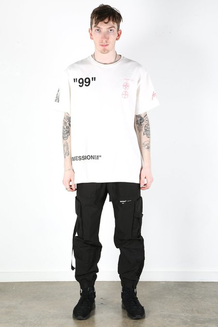 Off-White Boat Short sleeve Over Tee - white