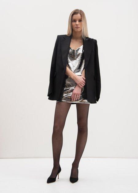 RtA Bijoux Short Slip Dress - Silver