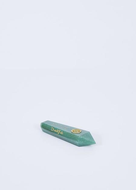 DankGals Crystal Hand Pipe - Green Aventurine