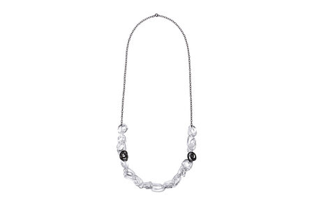 Jane D'Arensbourg Squiggle Glass & Sterling Chain