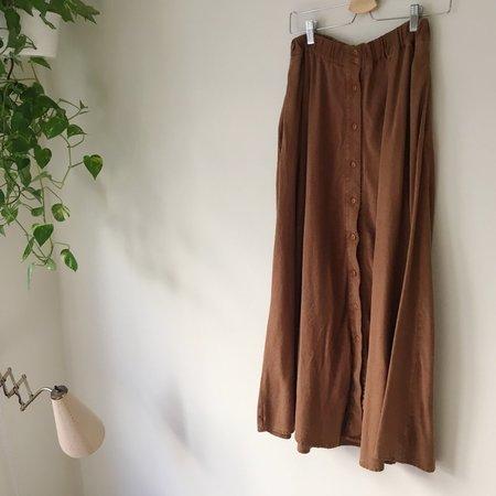 Vintage Le Market  Raw Silk Skirt - Marron Chaud